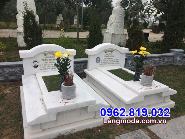 mẫu mộ đôi đẹp nhất được lắp đặt tại Vũng Tàu