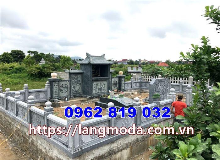 Mẫu mộ gia đình đẹp bằng đá xanh rêu tại Sài Gòn Hồ Chí Minh - Mẫu nhà mồ đẹp Hồ Chí Minh
