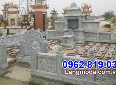 mẫu tường bao bằng đá khu nhà mồ đẹp tại Đồng Tháp
