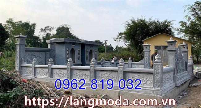 Mẫu tường rào bao quanh lăng mộ - tường rào lăng mộ