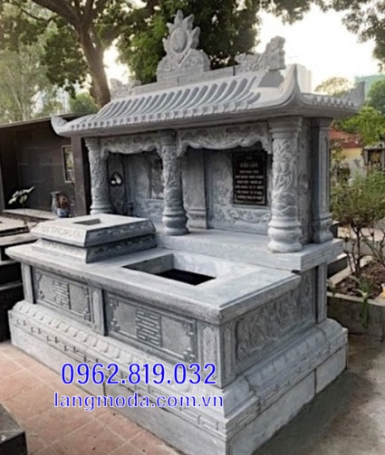 mộ đôi bằng đá cao cấp được ưa chuộng tại Kiên Giang 11