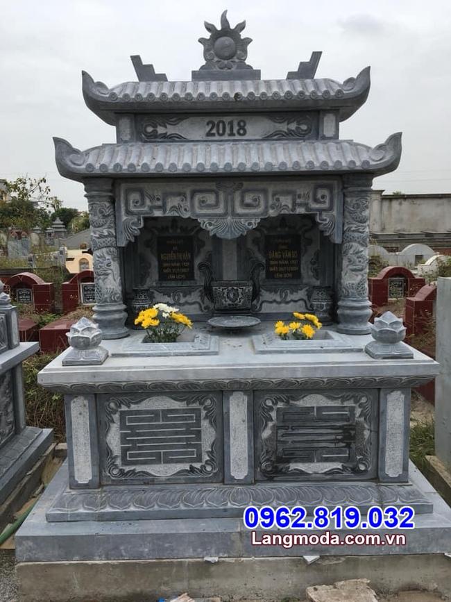 mộ đôi bằng đá đẹp chuẩn phong thủy tại Long An