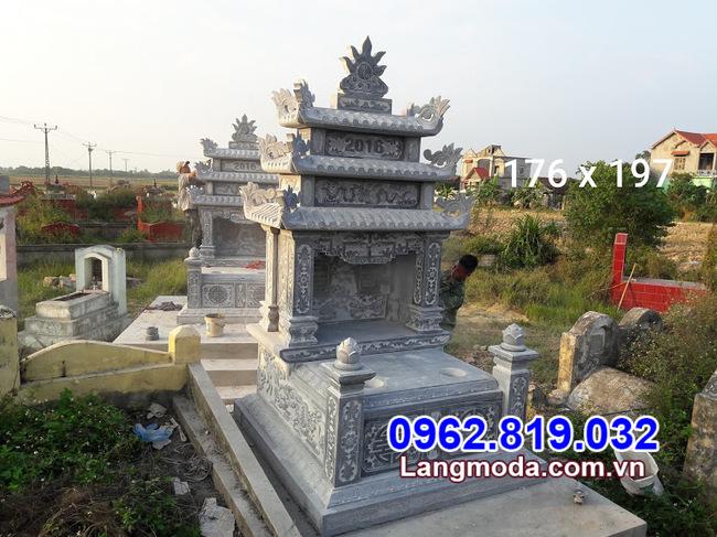 mộ đôi bằng đá đẹp nhất tại Long An