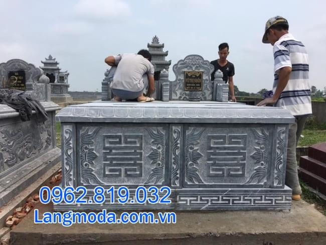mộ đôi bằng đá đẹp tại Cần Thơ