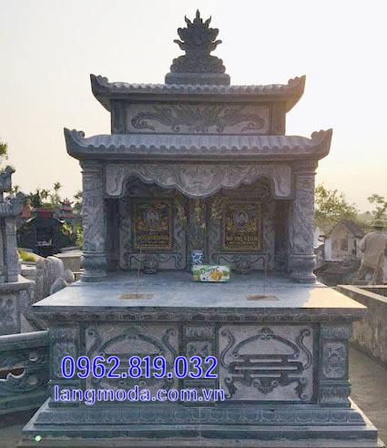 mộ đôi bằng đá đẹp tại Hậu Giang 1