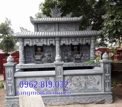 mộ đôi bằng đá đẹp tại Hậu Giang 10