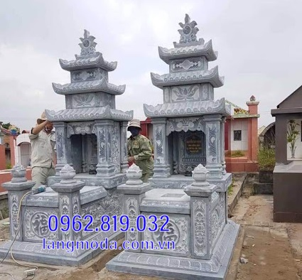 mộ đôi bằng đá đẹp tại Hậu Giang 11
