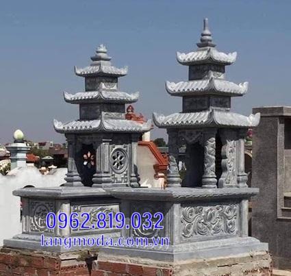 mộ đôi bằng đá đẹp tại Hậu Giang 12