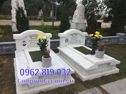 mộ đôi bằng đá đẹp tại Hậu Giang 13