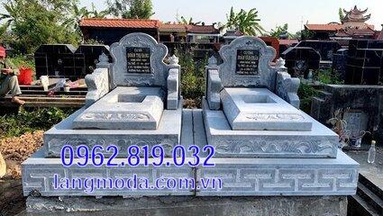 mộ đôi bằng đá đẹp tại Hậu Giang 2
