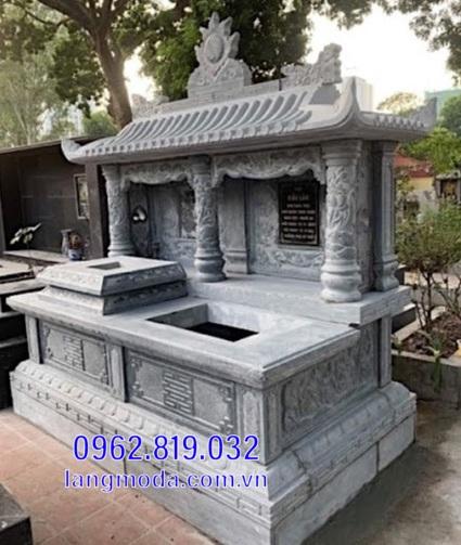 mộ đôi bằng đá đẹp tại Hậu Giang 6