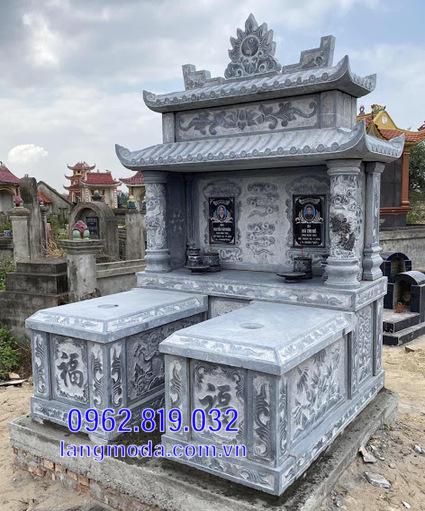 mộ đôi bằng đá đẹp tại Hậu Giang 7