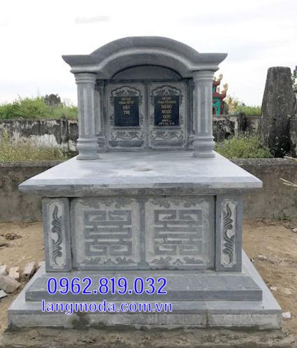 mộ đôi bằng đá đẹp tại Hậu Giang 8