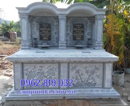 mộ đôi bằng đá đẹp tại Hậu Giang 9