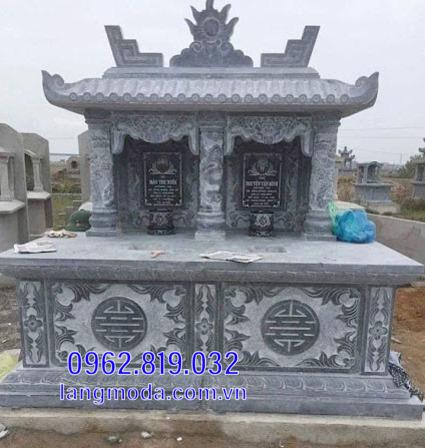 mộ đôi bằng đá đẹp tại Hậu Giang