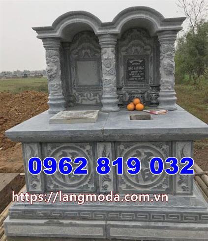 mộ đôi bằng đá đẹp tại Long An