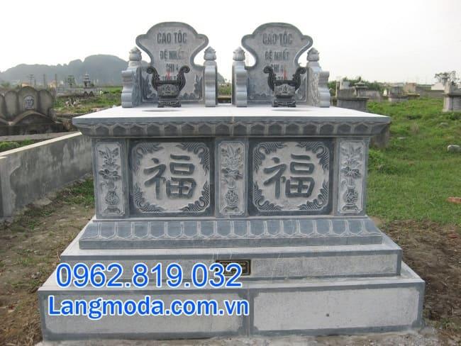 mộ đôi bằng đá tại Cần Thơ đẹp