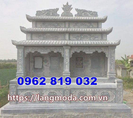 mộ đôi đá chuẩn phong thủy tại Long An
