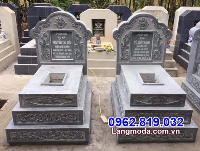 mộ đôi đá đẹp chuẩn phong thủy tại Long An