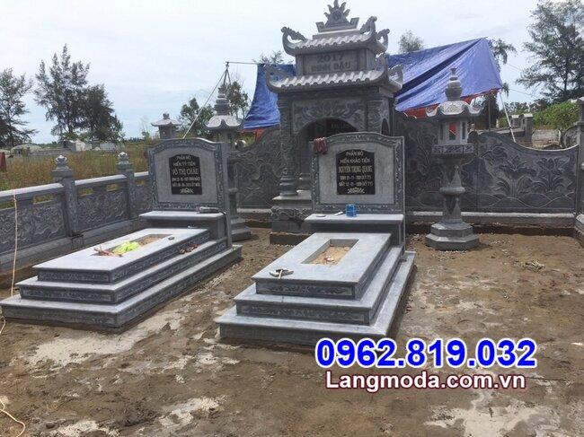 mộ đôi đẹp nhất được lắp đặt tại Vũng Tàu