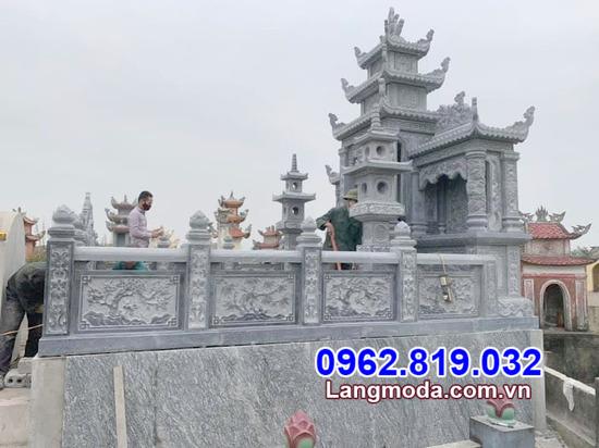 tường bao đá nhà mồ tại Đồng Tháp