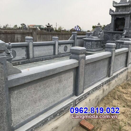 tường bao đá nhà mồ tại Hậu Giang