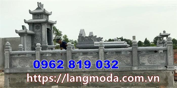 Tương rào hành lang khu nhà mồ tại Vĩnh Long