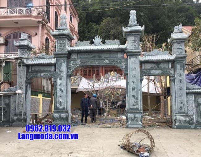 Cổng tam quan bằng đá đẹp lắp đặt tại Tiền Giang