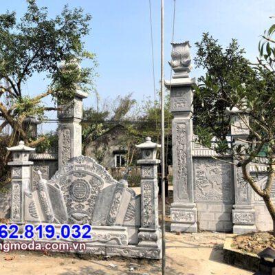 Cổng tam quan đình chùa bằng đá đẹp giá tốt tại Phú Yên