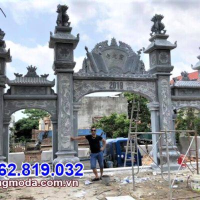 Mẫu cổng chùa kiểu tam quan bằng đá đẹp nhất tại Kiên Giang