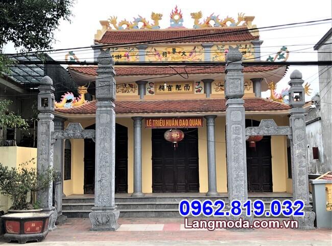 Mẫu cổng tam quan chùa bán tại Đồng Nai