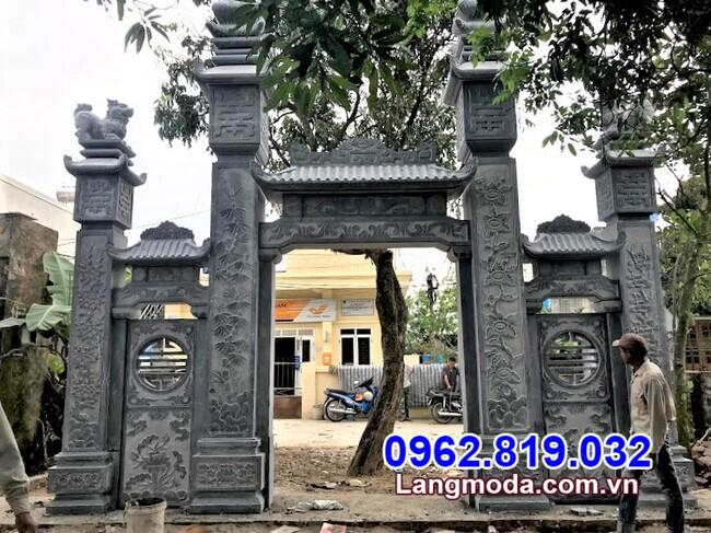 Mẫu cổng tam quan đá bán tại Ninh Thuận