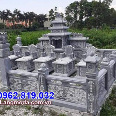 Lan can đá nghĩa trang đẹp giá rẻ thiết kế đơn gi