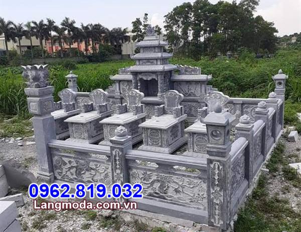 Tường rào đá nhà mồ tại Đồng Nai
