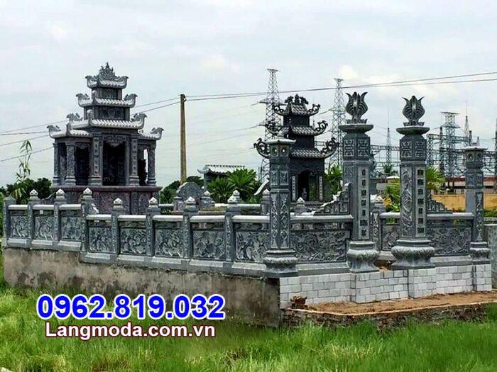 Tường rào đá nhà mồ tại Khánh Hòa