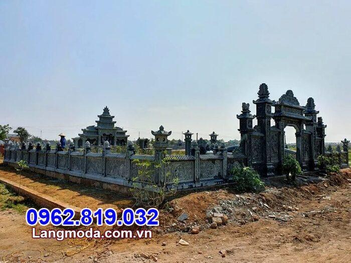 Tường rào nhà mồ tại Khánh Hòa