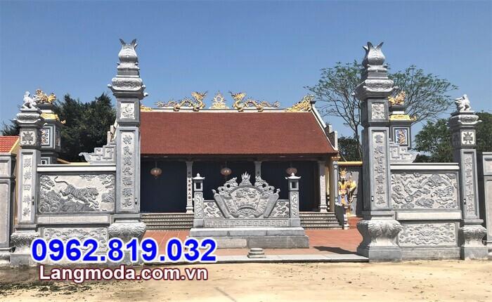 mẫu cổng tam quan chùa bán tại Hậu Giang