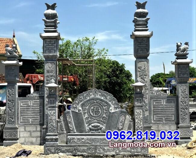 cổng tam quan đá lắp đặt tại Tây Ninh
