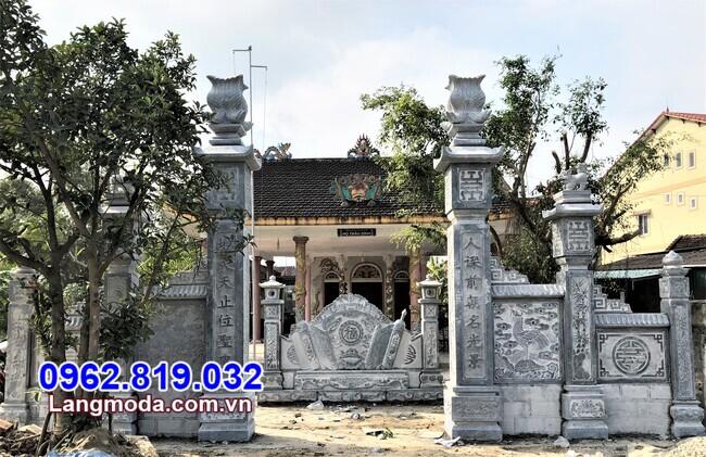 cổng tam quan đẹp làm bằng đá tự nhiên tại Bình Thuận