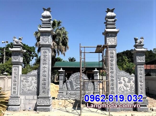 kiểu cổng tam quan đẹp làm bằng đá tại Đồng Nai