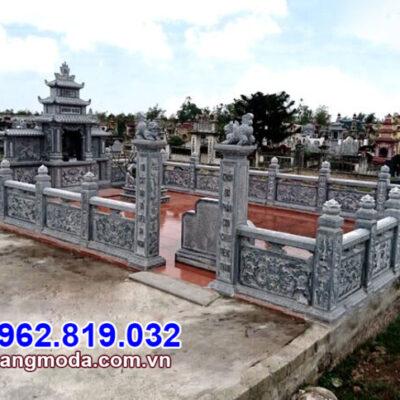 kiểu lan can đá cho khu nhà mồ tại Ninh Thuận
