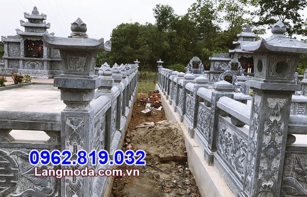 kiểu lan can đá nhà mồ tại Bình Phước