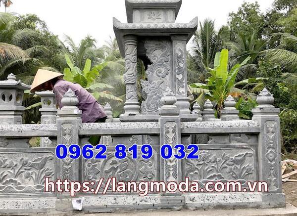 kiểu tường rào bằng đá đẹp được lắp đặt tại Bình Phước
