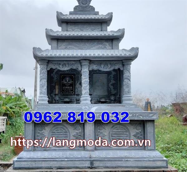 lắp đặt mộ đôi bằng đá tại Phú Yên