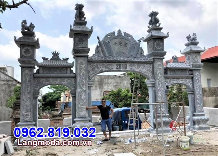 mẫu cổng chùa đẹp tại Hậu Giang