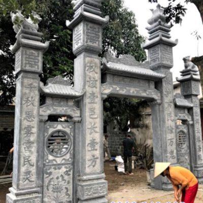 mẫu cổng đá xanh tự nhiên đẹp nhất lắp đặt tại Ninh Thuận
