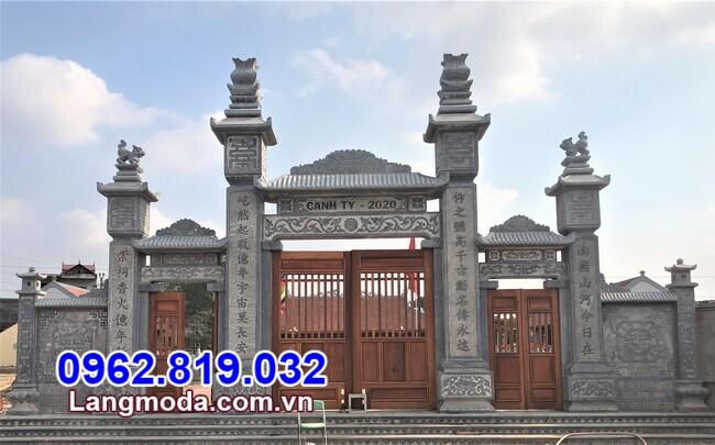 mẫu cổng tam quan chùa tại Hậu Giang