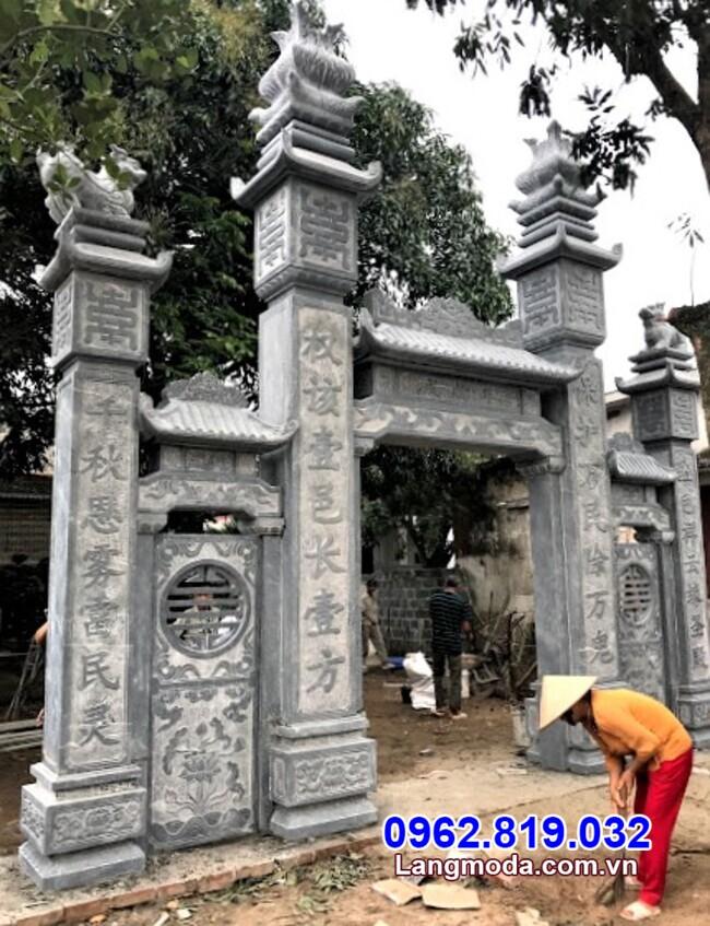 mẫu cổng tam quan đá đẹp tại Đồng Nai