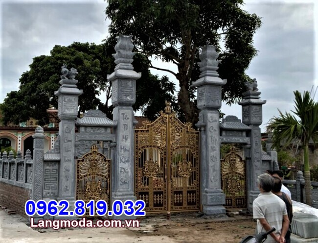 mẫu cổng tam quan đá đẹp tại Hậu Giang