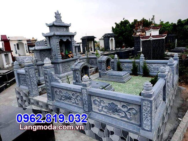 mẫu lan can tường rào bằng đá cho khu nhà mồ tại Phú Yên